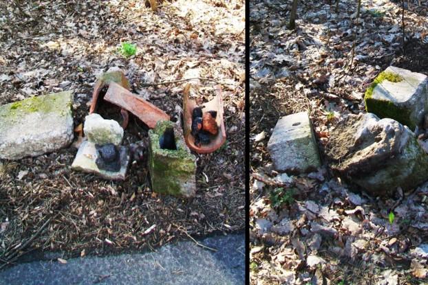 gruz przy Wczasowej dwa zdjęcia