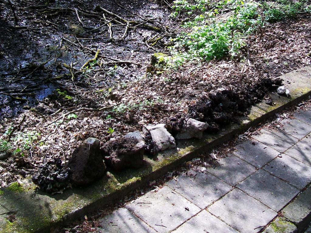 gruz przy strumieniu