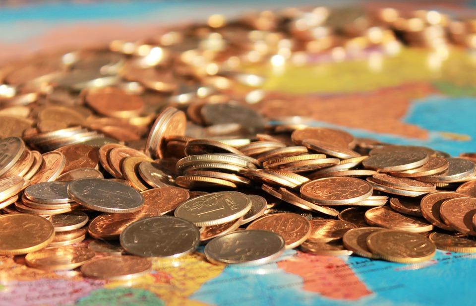 monety na mapie
