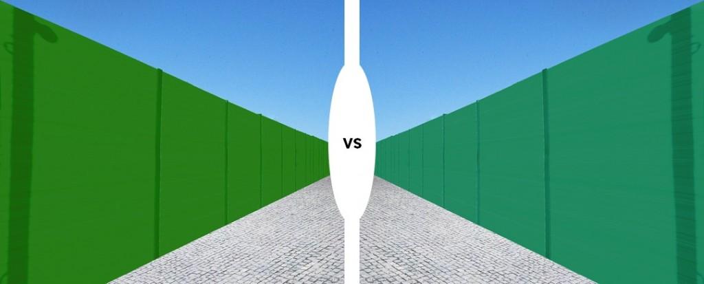 porównanie odcieni zieleni ekranów